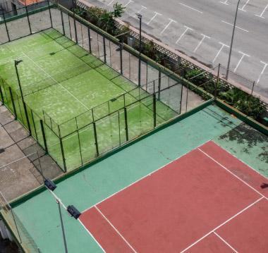 Our tennis courts and paddle tennis courts 2